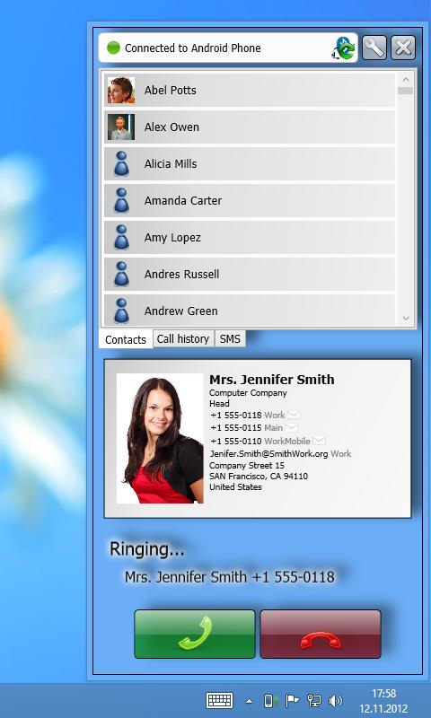 Remote Phone Call - screenshot