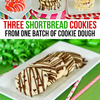 Shortbread Cookies - One Recipe Three Ways
