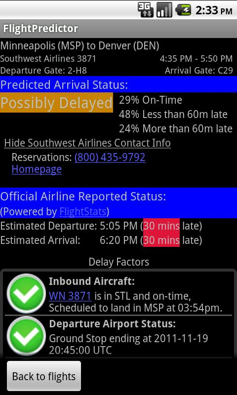 FlightPredictor - screenshot