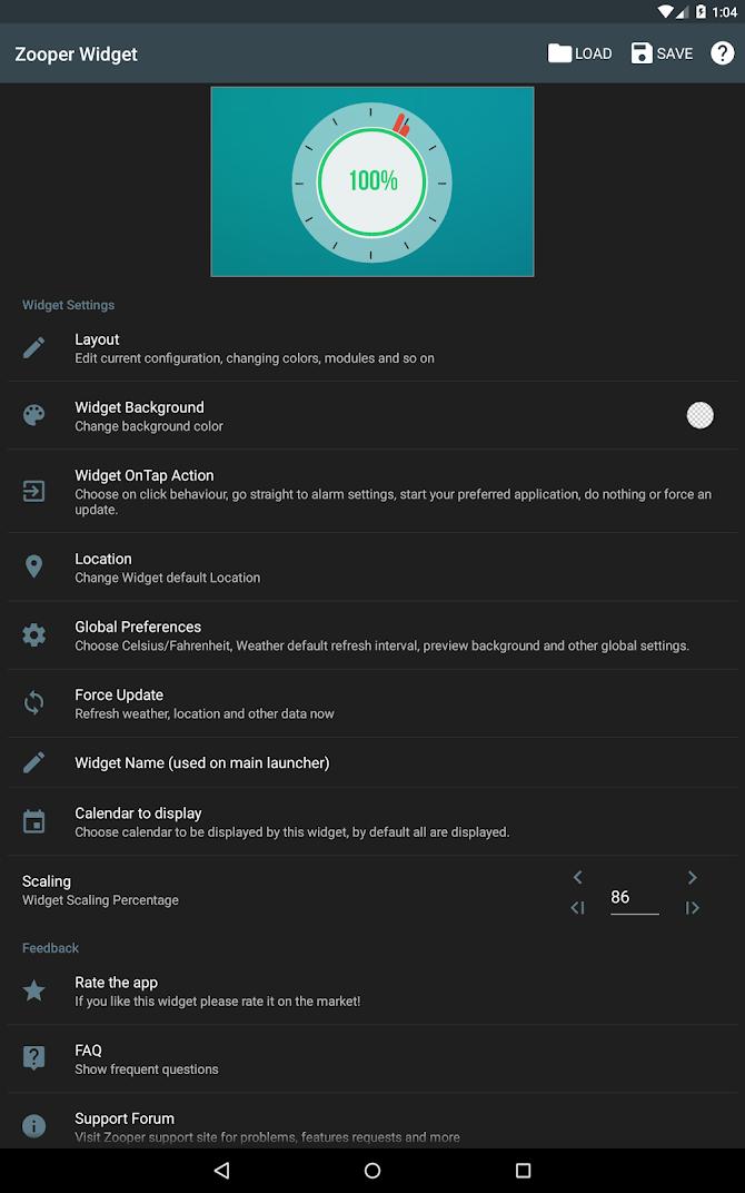 Zooper Widget Pro Android 10