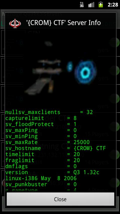Quake3 Tracker - screenshot