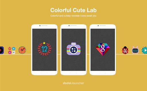 Colorful Cute Lab Dodol Theme