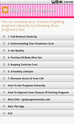 Ways To Get Pregnant