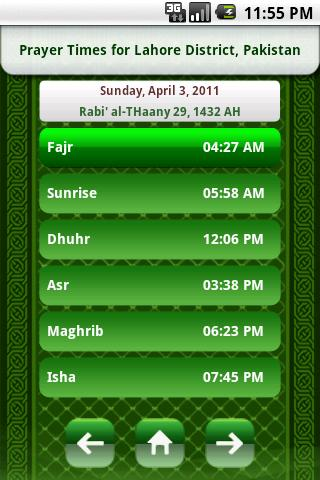 Islamic Prayer Times