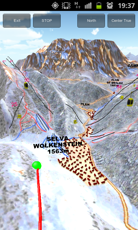 Sella ronda ski map