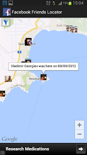 Friends Locator for Facebook - screenshot thumbnail