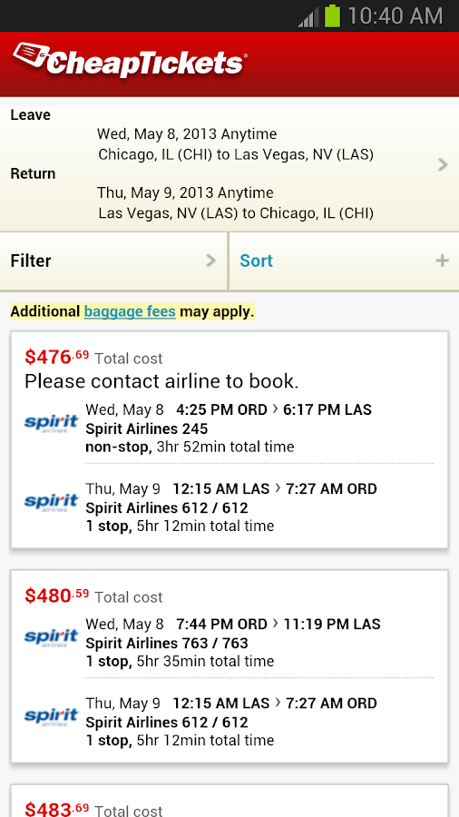 CheapTickets - Cheap is good. - screenshot