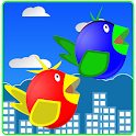 Two fly Birds - flap wings