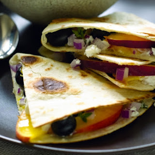 Blueberry and Cheese Quesadillas.