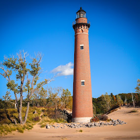 Little Sable Point by Steve Hall - Landscapes Beaches ( west michigan, lighthouse, little sable point )