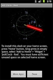 JediClock - Red- screenshot thumbnail