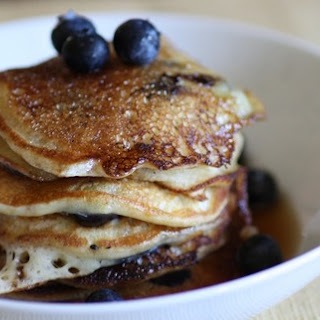 SUNDAY MORNINGS at MY HOUSE -- blueberry pancakes