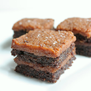 """Salted """"Caramel"""" Flax Brownies (Low Carb and Gluten Free)."""