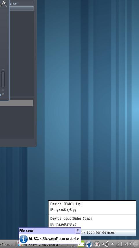 PC2Android- screenshot