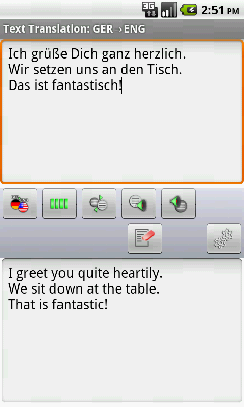 German Offline Translator - screenshot