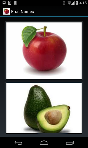 Fruit Names 1 line display