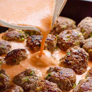 30 Minute Clean Thai Turkey Zucchini Meatballs.