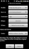 Screenshot of Video Converter Android