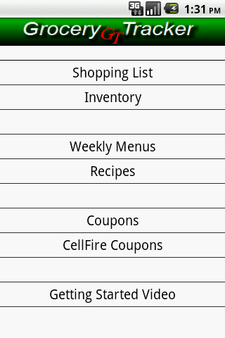 Grocery Tracker Shopping List - screenshot
