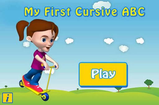 Cursive Upper Case. - Autism