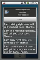 Screenshot of Smart Response Pro