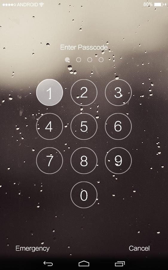 Ios 7 Lockscreen Passcode