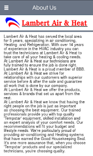 Lambert Air & Heat LLC- screenshot thumbnail