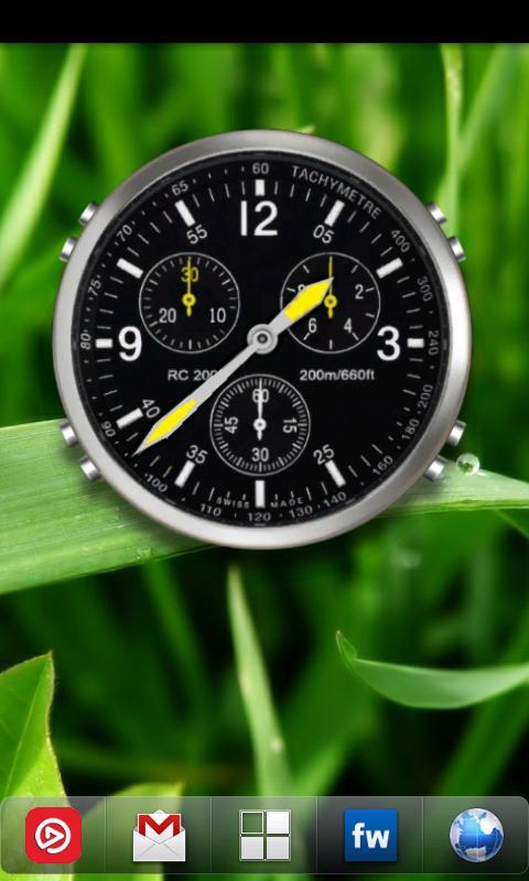 Андроид виджет аналоговые часы