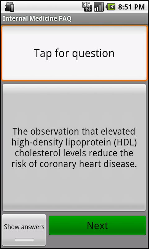 Internal Medicine Questions - screenshot