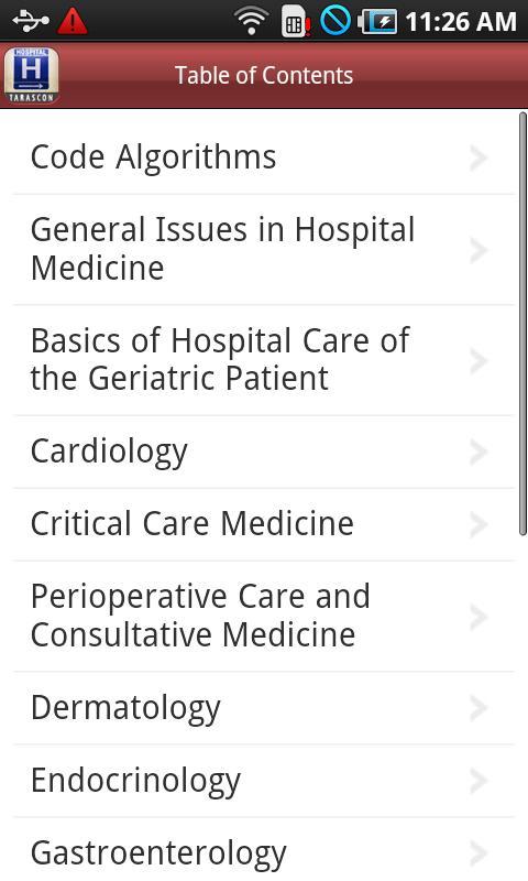 Tarascon Hospital Medicine Screenshot 1
