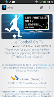 Live Football On TV - screenshot thumbnail