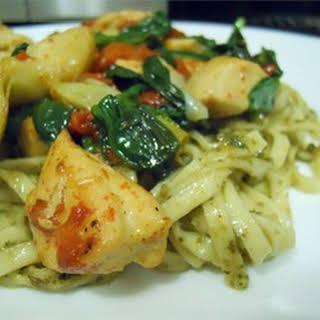 Spence's Pesto Chicken Pasta.