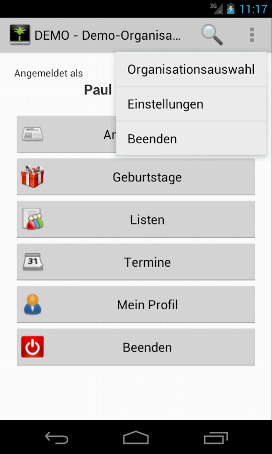 Appmidio - die App für Admidio – Screenshot
