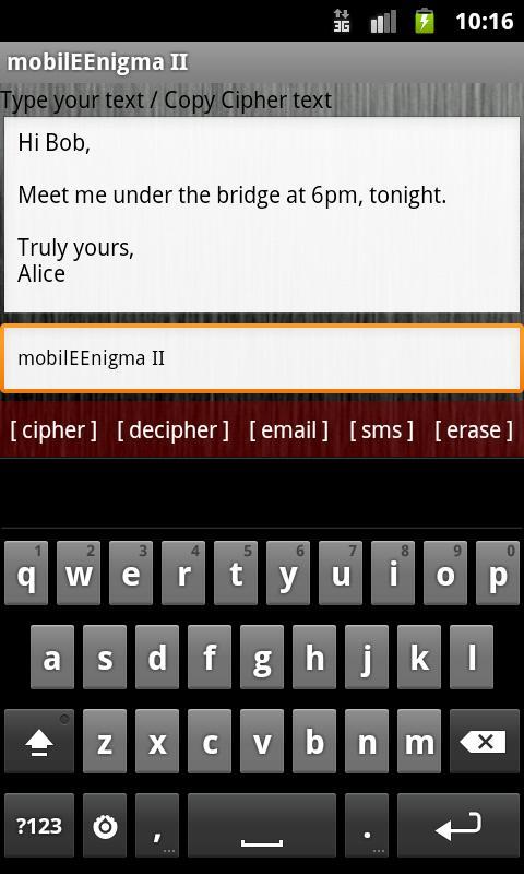 mobilEEnigma II- screenshot