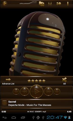 無料生活Appの金褐色 poweramp 皮膚|記事Game