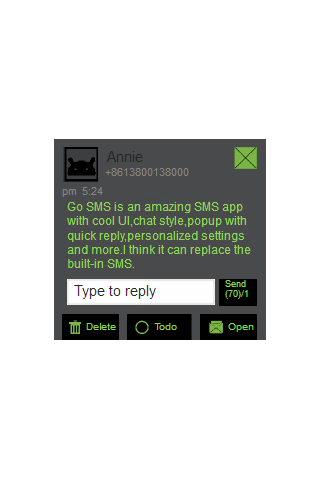 【免費個人化App】Green and Black Go SMS Theme-APP點子
