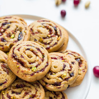 Date, Fig and Cranberry Pinwheel Cookies.