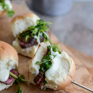 Filet Fondue Sliders.