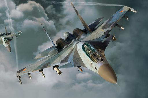 金屬飛行模擬器遊戲免費 - 戰鬥機發動機模擬手機遊戲