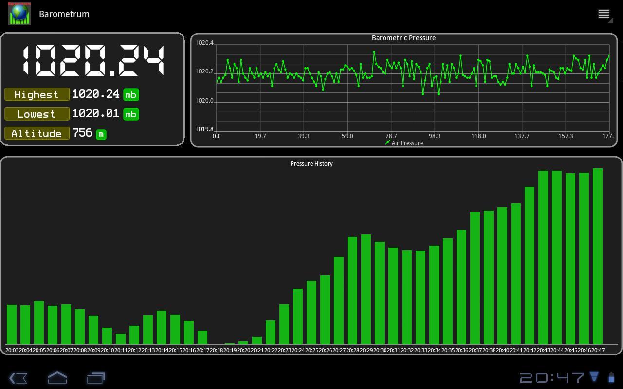 Barometrum- screenshot