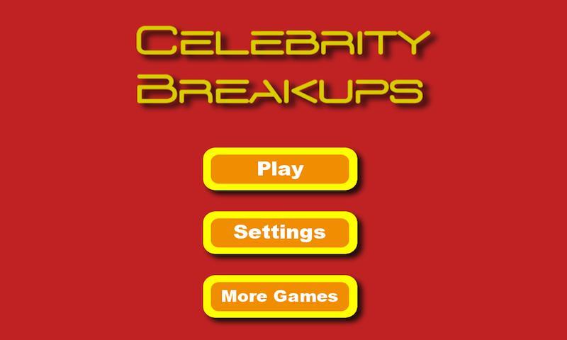 Celebrity Breakups- screenshot