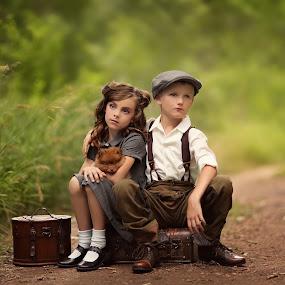 Daydreamers  by Katie Andelman Garner - Babies & Children Children Candids ( time, beautiful, children, puppy, kids, pretty, katie andelman,  )