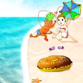 Beach!Donut Boy and Girl LW