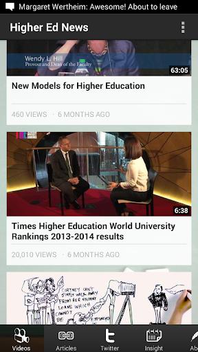 Higher Education News