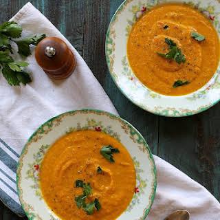Vegan Carrot Jalapeño Soup.
