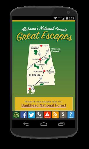 Alabama Great Escapes USFS