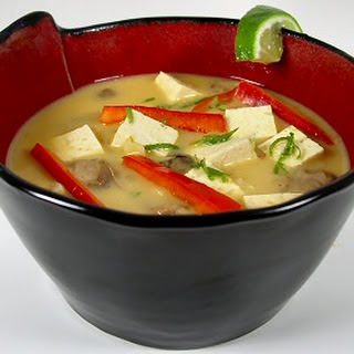 Thai Coconut Soup with Tofu and Mushrooms Recipe