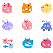 CUKI Theme Cute bubble icon