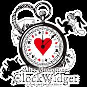 アリスのモノトーンアナログ時計ウィジェット