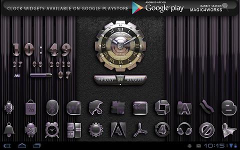 Next Launcher Theme Purple D v2.4.0